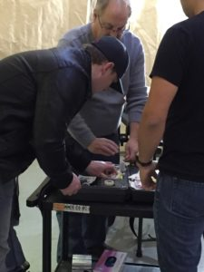 TCCC Instructor Randy Arnold (USA) assists in Lab. November 2015